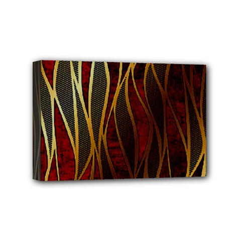 Snake In The Grass Red And Black Seamless Design Mini Canvas 6  X 4
