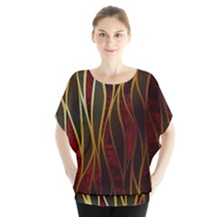 Snake In The Grass Red And Black Seamless Design Blouse