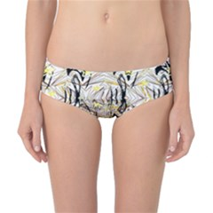 Retro Seamless Black And Gold Design Classic Bikini Bottoms