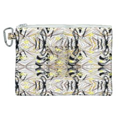 Retro Seamless Black And Gold Design Canvas Cosmetic Bag (xl) by flipstylezdes