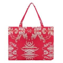 Red Chinese Inspired  Style Design  Medium Tote Bag