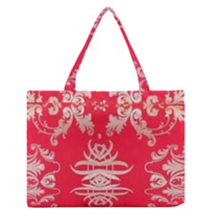 Red Chinese Inspired  Style Design  Zipper Medium Tote Bag