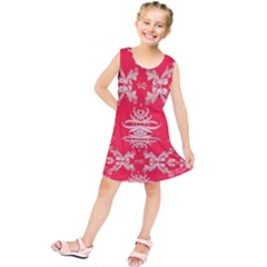 Red Chinese Inspired  Style Design  Kids  Tunic Dress
