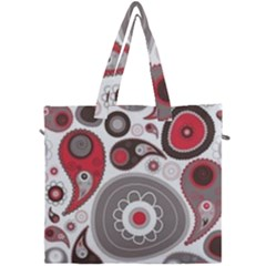 Fun Red And Black Design Canvas Travel Bag by flipstylezdes