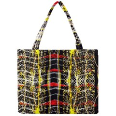 Retro Red And Black Liquid Gold  Mini Tote Bag by flipstylezdes