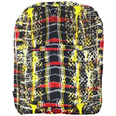 Retro Red And Black Liquid Gold  Full Print Backpack