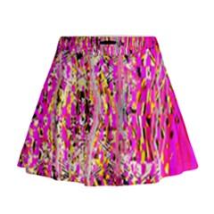 Hot Pink Mess Snakeskin Inspired  Mini Flare Skirt
