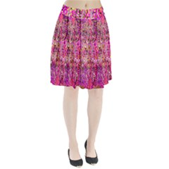 Hot Pink Mess Snakeskin Inspired  Pleated Skirt