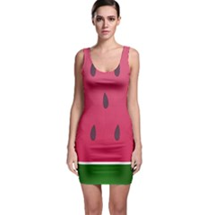 Watermelon Fruit Summer Red Fresh Bodycon Dress