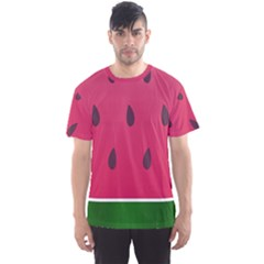 Watermelon Fruit Summer Red Fresh Men s Sports Mesh Tee