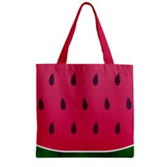 Watermelon Fruit Summer Red Fresh Zipper Grocery Tote Bag