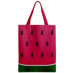 Watermelon Fruit Summer Red Fresh Zipper Classic Tote Bag by Nexatart