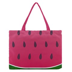 Watermelon Fruit Summer Red Fresh Zipper Medium Tote Bag by Nexatart