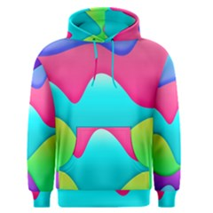 Lines Curves Colors Geometric Lines Men s Pullover Hoodie