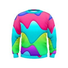 Lines Curves Colors Geometric Lines Kids  Sweatshirt