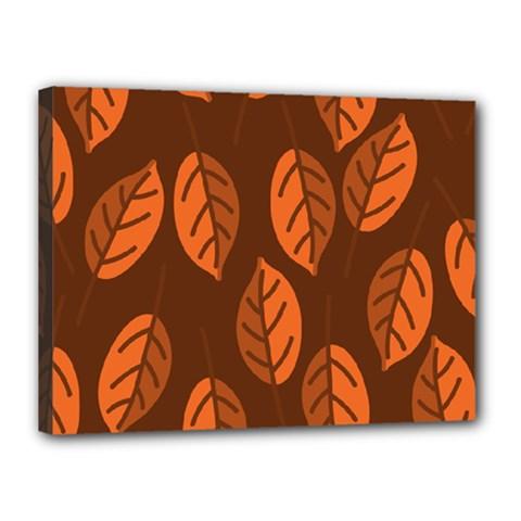 Pattern Leaf Plant Decoration Canvas 16  X 12  by Nexatart