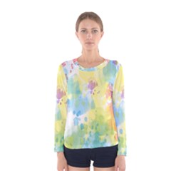 Abstract Pattern Color Art Texture Women s Long Sleeve Tee