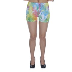 Abstract Pattern Color Art Texture Skinny Shorts