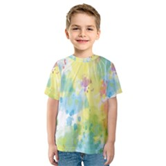 Abstract Pattern Color Art Texture Kids  Sport Mesh Tee