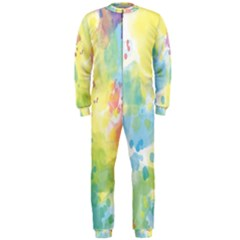Abstract Pattern Color Art Texture Onepiece Jumpsuit (men)