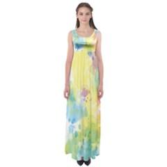 Abstract Pattern Color Art Texture Empire Waist Maxi Dress