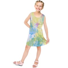 Abstract Pattern Color Art Texture Kids  Tunic Dress