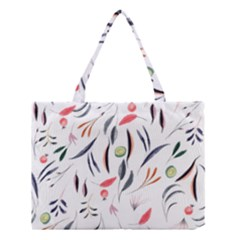 Watercolor Tablecloth Fabric Design Medium Tote Bag