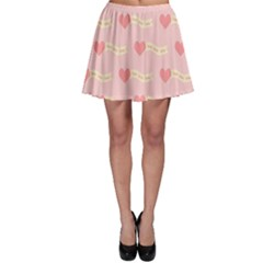 Heart Love Pattern Skater Skirt