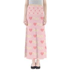 Heart Love Pattern Full Length Maxi Skirt