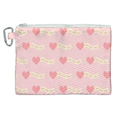 Heart Love Pattern Canvas Cosmetic Bag (xl) by Nexatart