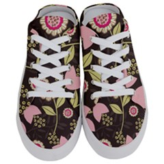 Flowers Wallpaper Floral Decoration Half Slippers by Nexatart