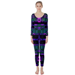 Abstract Pattern Desktop Wallpaper Long Sleeve Catsuit