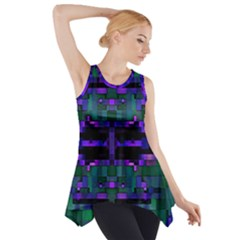 Abstract Pattern Desktop Wallpaper Side Drop Tank Tunic