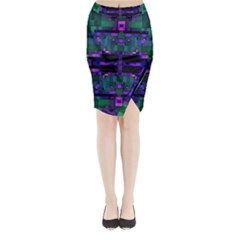 Abstract Pattern Desktop Wallpaper Midi Wrap Pencil Skirt