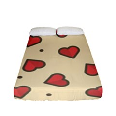 Design Love Heart Seamless Pattern Fitted Sheet (full/ Double Size)