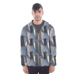 Pattern Texture Form Background Hooded Windbreaker (men)