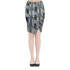 Pattern Texture Form Background Midi Wrap Pencil Skirt