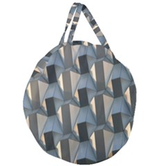 Pattern Texture Form Background Giant Round Zipper Tote