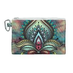 Decoration Pattern Ornate Art Canvas Cosmetic Bag (large) by Nexatart