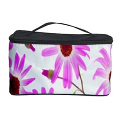 Pink Purple Daisies Design Flowers Cosmetic Storage Case by Nexatart