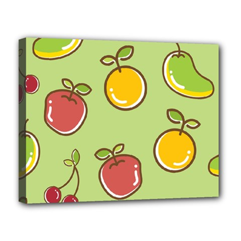 Seamless Pattern Healthy Fruit Canvas 14  X 11
