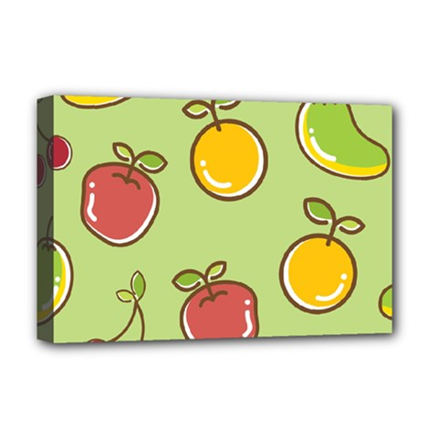 Seamless Pattern Healthy Fruit Deluxe Canvas 18  X 12
