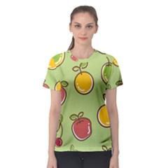 Seamless Pattern Healthy Fruit Women s Sport Mesh Tee