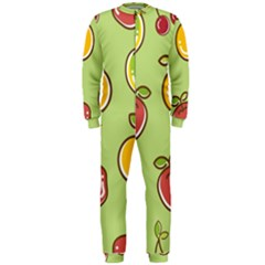 Seamless Pattern Healthy Fruit Onepiece Jumpsuit (men)
