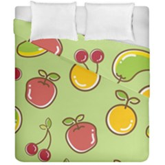 Seamless Pattern Healthy Fruit Duvet Cover Double Side (california King Size)
