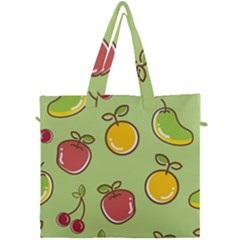Seamless Pattern Healthy Fruit Canvas Travel Bag by Nexatart