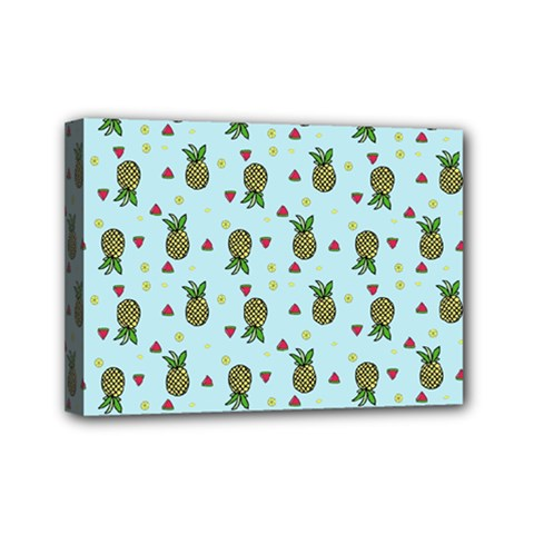 Pineapple Watermelon Fruit Lime Mini Canvas 7  X 5
