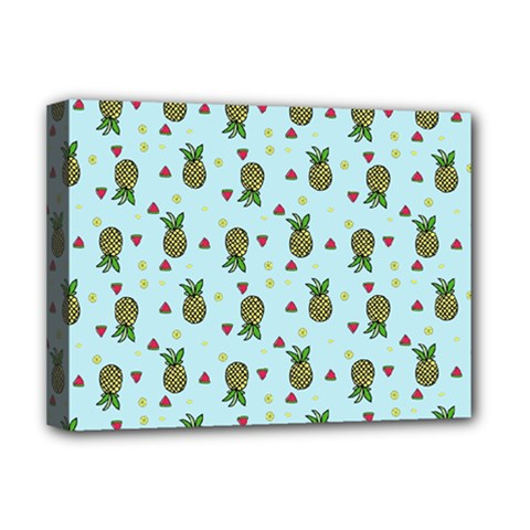 Pineapple Watermelon Fruit Lime Deluxe Canvas 16  X 12