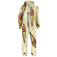 Pattern Sweet Seamless Background Hooded Jumpsuit (men)