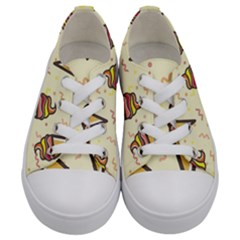 Pattern Sweet Seamless Background Kids  Low Top Canvas Sneakers